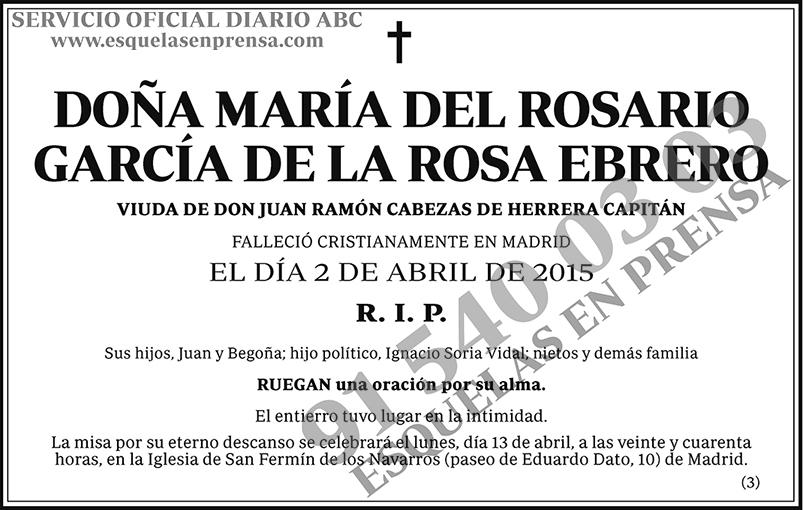 María del Rosario García de la Rosa Ebrero